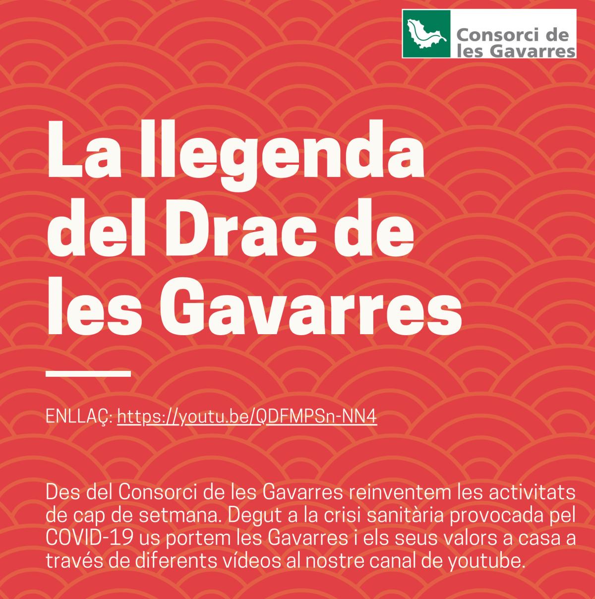 Cartell la llegenda del Drac de les Gavarres