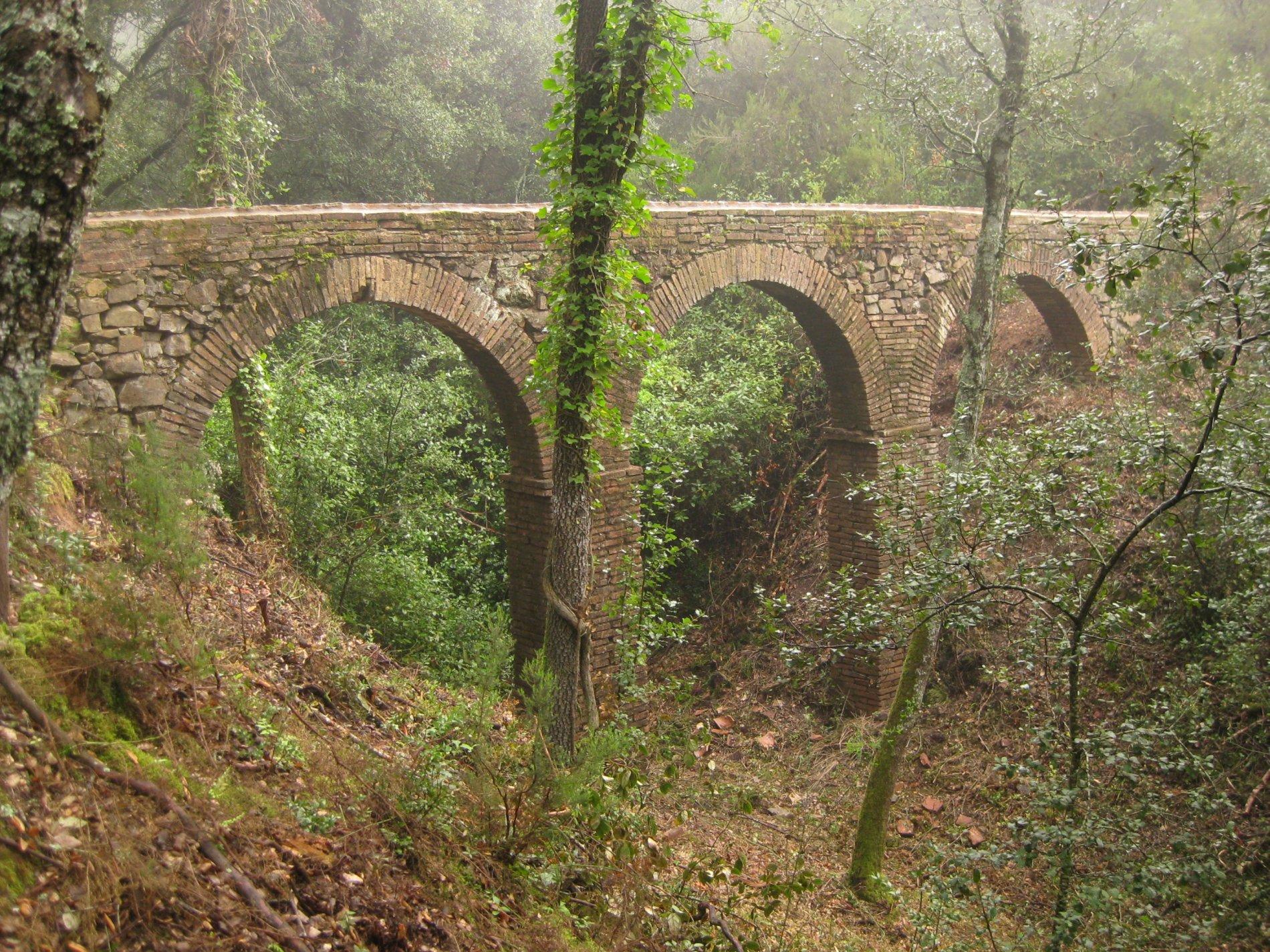 Aqüeducte Gran de Can Vilallonga (ZIE). Cassà de la Selva
